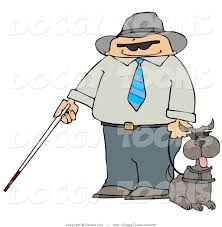 Blind Man Cane Doggy Clipart Of A Blind Man With A Walking Cane And Guide Dog By