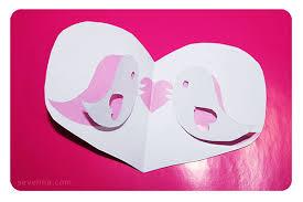 tweet the love valentines pop up card template