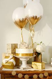 Baby Shower Decoration Ideas Pinterest by Love This Combination Of White And Gold For Simple Decorations