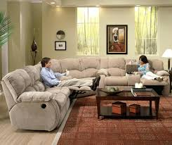 Sectional Recliner Sofa With Cup Holders Sectional Recliner Sofa Engnd With Cup Holders In Chocolate