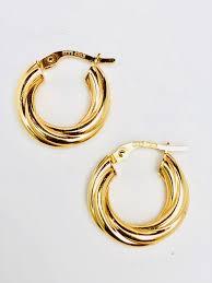14k gold hoop earrings 14k gold small twist hoop earrings jewelenvy