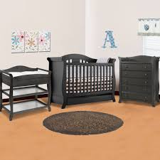 Crib And Change Table Combo by Black Crib With Changing Table Home Design Ideas And Inspiration