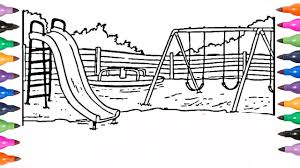 how to draw playground coloring book pages coloring pages for