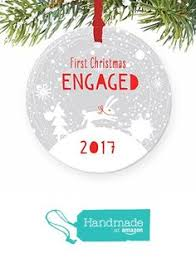 our engaged ornament 2017 wreath