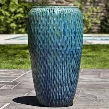 tall textured indoor outdoor planter copper u0026 turquoise