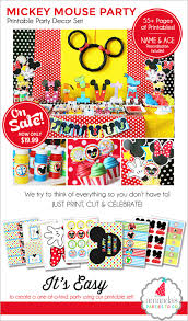 Mickey Mouse Party Theme Decorations - mickey mouse birthday decorations mickey mouse party