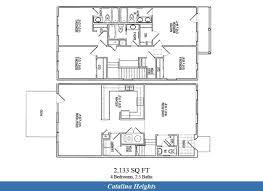 Townhouse Blueprints by Nb Ventura County U2013 Catalina Heights Neighborhood 4 Bedroom 2 5