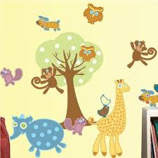Animal Wall Decals For Nursery Baby Nursery Wall Stickers Baby Room Wall Decals Nursery Wall Decor