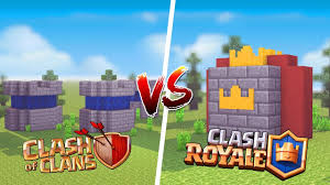 minecraft casa de clash of clans vs casa de clash royale u2039 juaum
