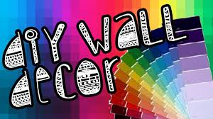 diy paint chip wall art youtube