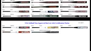 approved bats bat regulations soo men s pitch softball