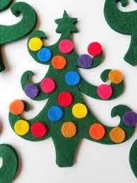 10 green die cut felt cut out christmas tree christmas trees