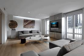 modern minimalist living room sleek gray sectional sofa multiple