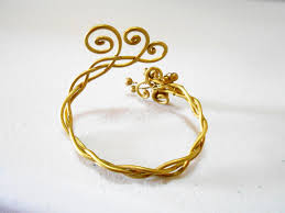luxurious brass butterfly bracelet with delicate designs