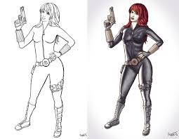 black widow coloring pages printable coloring image