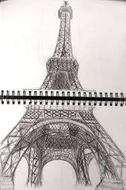 eiffel tower pen sketch by fanatic007 on deviantart