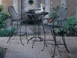 Woodard Wrought Iron Patio Furniture by Woodard Aurora Wrought Iron 30 Round Mesh Top Bar Height Table