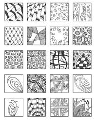 pattern zendoodle pencil and in color pattern zendoodle
