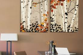 modern home decor abstract tree painting birch trees paintings for