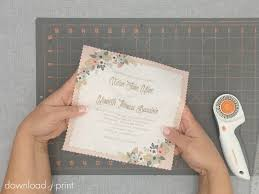 wedding invitation diy diy handkerchief wedding invitation print