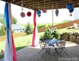 Patio Party Decorations Our 9th Annual 4th Of July Party All Things G U0026d