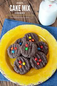 m u0026m chocolate cake batter cookies recipe chocolate cake mix