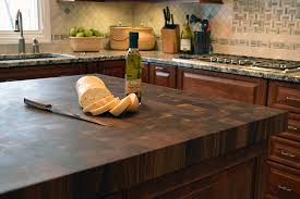 Cutting Board Countertop Rustic Kitchen Design With Ecote