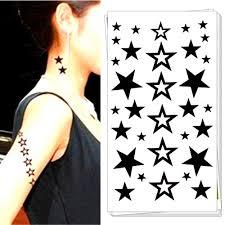 tattoo home decor small black star temporary tattoo body art flash tattoo stickers