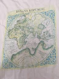 World Map T Shirt by Vintage Banana Republic World Map Pocket T Shirt