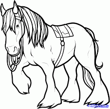 cartoon horse coloring pages horse pictures to color horse
