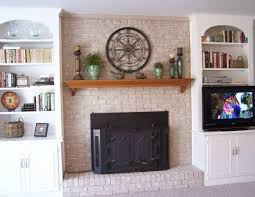 interior brick fireplace mantel ideas with glorious fireplace