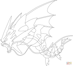 mega gyarados pokemon coloring page free printable coloring pages