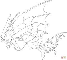 mega gyarados pokemon coloring free printable coloring pages