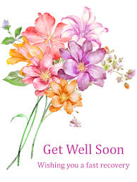 get well soon flowers gorgeous flower bouquet get well card birthday greeting cards