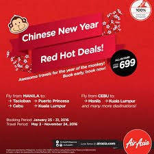 airasia singapore promo airasia chinese new year sale airline promo ph