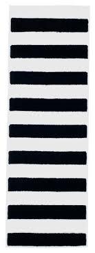 White Runner Rug Black And White Striped Runner Rug Roselawnlutheran