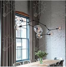 Black Pendant Lights Discount 2017 Nordic Personalized Molecular Glass Pendant Lamp