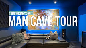 man cave tour modern theater room design the diy mommy youtube