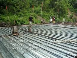 2nd floor steel deck cement pouring mpg youtube