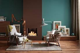 wandgestaltung schöner wohnen die wandfarben petrol und braun in einem raum bild 6 schöner