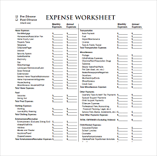 Tax Template For Expenses by Expense Sheet Template 11 Free Documents For Pdf