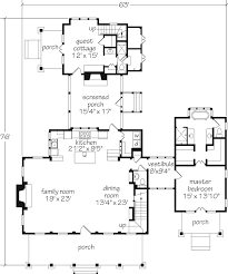 house plans with detached guest house i this floor plan the screened in porch with fireplace and