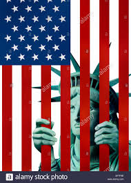Smerican Flag Statue Of Liberty In American Flag Jail Stock Photo Royalty Free
