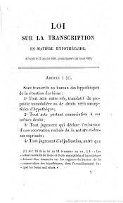 bureau des hypoth鑷ue privilèges et hypothèques commentaire de la loi du 23 mars 1855 sur
