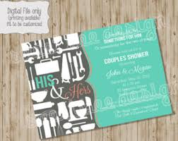 Couple S Shower Invitations Couples Shower Invitation Etsy