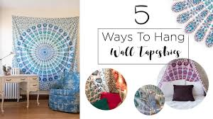 How To Hang Pictures On A Wall How To Hang A Tapestry On The Wall Wall Art Design