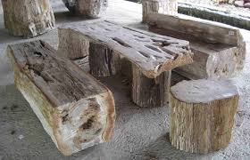 Petrified Wood Bench Petrified Wood Stools Petrified Wood Table Table With Beautiful