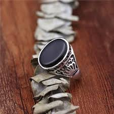 cool finger rings images Cool black garnet stone crown finger men punk rings party band jpg