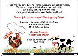 eat beef thanksgiving dinner invitations 2071cs tg