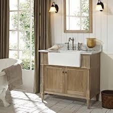 Rustic Farmhouse Bathroom - bathroom marvelous unfinished bathroom vanities rustic wooden